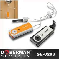 DOBERMAN SECURITY(ドーベルマンセキュリティ) LEDライト搭載 開閉センサー 警報ブザー 大音量 侵入防止アラーム SE-0203 OR BK