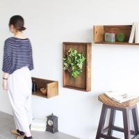 光触媒 壁掛け 植物 木製 額 ウォールパネル 造花 フェイクグリーン 観葉植物 ディスプレイ アートパネル Botanical sl.class 05