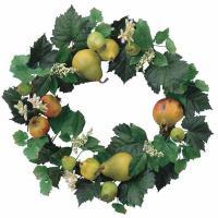 リース 花 壁掛け フルーツリース 光触媒 造花 デザインリース 人工観葉植物 インテリアグリーン フェイクグリーン