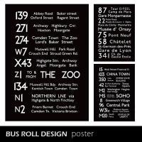 レトロなバスロールサインのポスター サイズ:幅500 高さ700 mm 材質:紙 デザイン:LOND...