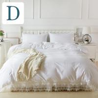 シンプルホワイトにアンティーク風のベッドカバーセットです。 ベッドスプレッド ピローケース(枕カバー...
