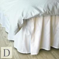 コットン100%のシンプルなベッドスカートは、どんなベッドカバーにもぴったり。別名、ボトムスカート(...