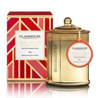アロマキャンドル クリスマス GLASSHOUSE クリスマスキャンドル 350g (ホワイトクリス...
