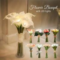 造花 ブーケ 花束 LED フラワー 花 結婚式 ギフト フラワーブーケ プレゼント 贈り物 敬老の日