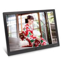 moonka 15.4 インチ デジタルフォトフレーム 1280x800 フルHD解像度 LCDバックライト液晶パネル 写真・動画・音楽 リモコン操作
