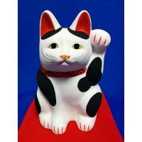 乙川人形の招き猫  愛知県半田市 招き猫の中でも人気の高い三河系招き猫です 高さ約27センチ・新品 ...