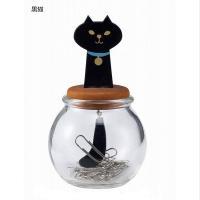 シュールなネコがオシャレ♪ シュッとおしゃまな表情が人気のOh my catシリーズ。  瓶の上に座...