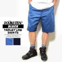 ダブルスティール ブラック ショーツ DOUBLE STEAL BLACK PAISLEY LINE SHORTS