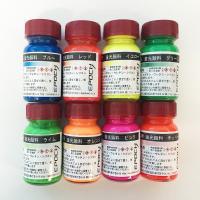 ポリエステル、エポキシ、ウレタン、シリコン、アクリル樹脂に着色できます。  樹脂に0.5%〜10%を...