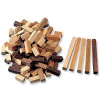 寄せ木カラーウッド 5色120ピースセット  サイズ:100×10×10mm 5色各2個 計10個 ...