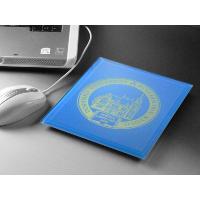 プレゼント ギフト 彫刻 卒業 記念品 送料無料  カラーガラスマウスパッドL(ブルー) 名前入り|arttech21|02
