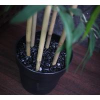 人工観葉植物 造花 竹ツリーのインテリアポット 180cm バンブーツリー 光触媒を超える消臭効果/ 高級那智黒石付き 地域限定