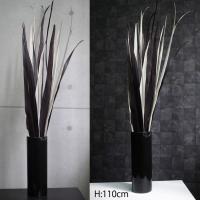 人工観葉植物 110cmモノトーンMIXリーフのデザインポット ヤシの葉 カフェスタイル 光触媒を超える消臭効果 造花