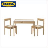【商品情報】 IKEA/イケア キッズ用テーブル&椅子セット パイン無垢材 LATT  商品の大きさ...