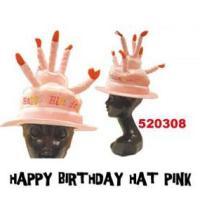 ハッピーバースデーハット ピンク HAPPY BIRTHDAY HAT PINK 誕生日パーティー・仮装・帽子