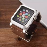 新発売Apple Watch ケース  素材:本レザーバンド  史上最強 防塵、耐衝撃のメカニックな...