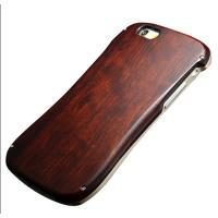 iPhone6/6S専用  商品素材:木プレート、アルミ  美しい曲線と握りやすい形状、一体感を損な...