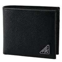 プラダ PRADA 財布 サイフ さいふ メンズ 二つ折り財布 型押しカーフスキン 2MO738 QHH 002