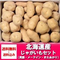 北海道産  野菜セット  じゃがいも(男爵いも・きたあかり・メークイン)セット (約9キロ詰め)  ...