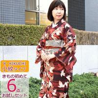 R Kikuchiブランド着物 小紋タイプ  ■着物を選択、細帯・二部式襦袢(M/L)足袋・草履・着...