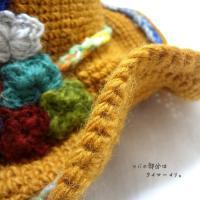 (メール便送料無料) ナチュラルハット エスニックハット アジアン帽子 アジアンハット 編込み帽子 エスニックファッション/ナチュラルクロシェハット