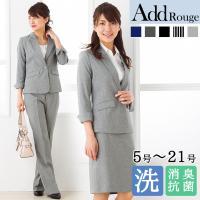 f759bffb93c5d スーツ レディース 七分袖 3点セット 夏 通勤 ビジネス 面接 ジャケット パンツ スカート 大きいサイズ クールビズ 40代