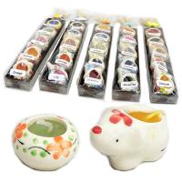 可愛い陶器に入ったアロマキャンドルがたくさんのセットが5個!プレゼントにも◎ / アロマキャンドルセット / T-IC-7|asian-dream-net