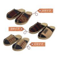 ナガ族の織り布を使用したエスニックなかわいらしさ!優しい履き心地の民族サボサンダル / T-SH-K5|asian-dream-net|04
