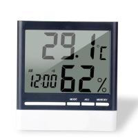 メーカー ANSENY 商品 CX-318 電子温度計&湿度計 デジタル時計機能付き  電池AAA1...