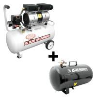 AP サイレントエアコンプレッサー30L & サブタンク38L セット