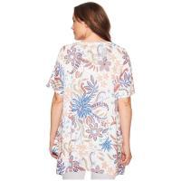 ナリーアンドミリー シャツ レディース Plus Size Floral Print Tunic Multi