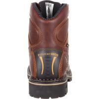 """ジョージブーツ メンズ ブーツ&レインブーツ シューズ GB00163 6"""" Comfort Core Logger WP Work Boot Dark Brown Full Grain Leather"""