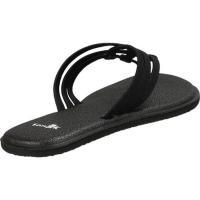 サヌーク レディース サンダル シューズ Yoga Salty Thong Sandal Black Nylon