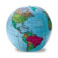 空気を入れて遊びながら世界の地名(英語)が学べる!(サイズ:直径約22cm)  ※海外直輸入品のため...