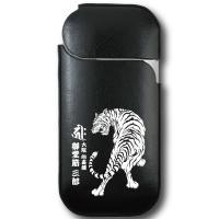 iQOS専用、虎と梵字の和柄デザインに名入れができる、オーダーメイドのオリジナルPUレザーケース 高...