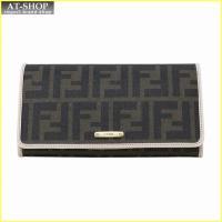 FENDI フェンディ 財布サイフ 二つ折り長財布 8M0298 GRP F0J3N ブラウン/ライトピンク