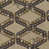 エミリオプッチ EMILIO PUCCI ネクタイ シルク100% 先端幅:約9cm ベージュ系 A462