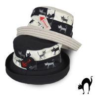 ◆猫プリントがとっても可愛いセーラー♪おさかな(食べたあと)の刺繍ブローチがまた可愛い!裏地はメッシ...