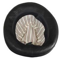 帽子 ラムレザーと牛革の艶ハット