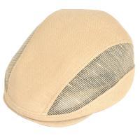 ◆ペーパー素材のハンチング。メッシュを施した見るからに涼し気なハンチングは夏におススメの帽子です。普...