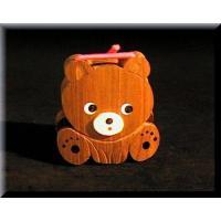 木で作られたかわいいクマのカスタネットです。 材質は銘木「エンジュの木」を使用しています。 サイズ(...