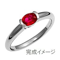 ジュエリーリフォーム、指輪リフォーム リング空枠90オーバル石用/横留め|atelier-ti