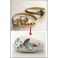 ジュエリーリフォーム、セミオーダーふっくらリング手作りk18WG(ホワイトゴールド)|atelier-ti