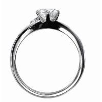 ジュエリーリフォーム、指輪リフォーム リング空枠0.7ct前後用/V字ワンポイントメレ|atelier-ti|03