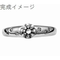 ジュエリーリフォーム リング空枠0.4〜0.54ct(直径5mm前後)用M/ドッツデザイン 指輪空枠|atelier-ti