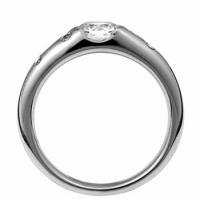 ジュエリーリフォーム リング空枠0.4〜0.54ct(直径5mm前後)用M/ドッツデザイン 指輪空枠|atelier-ti|03