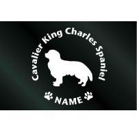犬のステッカー『DOG STICKER』名前入りドッグステッカーキャバリアキングチャールズスパニエル(Sサイズ)