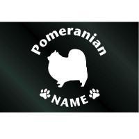 犬のステッカー『DOG STICKER』名前入りドッグステッカーポメラニアン(Lサイズ)