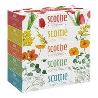 「スコッティ ティシュー フラワーボックス 320枚(160組)×5個パック」は、明るく華やかにお部...