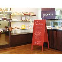 木製 A型 立て看板 赤 黒板 看板 両面使用 メニューボード 店舗用|atmack|02